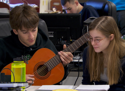 Students Playing Guitar