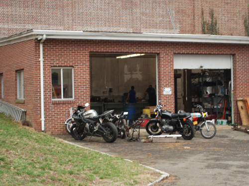 Student Garage outside