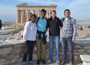 Students on Winter Work Term in Athens