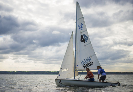Students sailing on the Long Island Sound