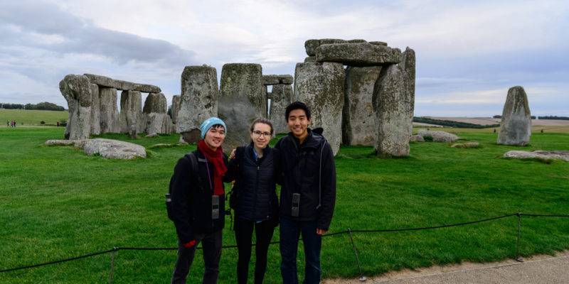 Students at Stonehenge while studying abroad at University of Southampton