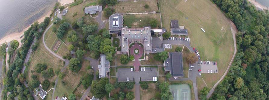 Aerial Webb Campus fisheye