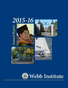 Webb Institute Annual Report cover - 2015-16