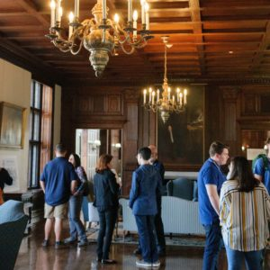 Prospective students viewing the Visconti Reception Room
