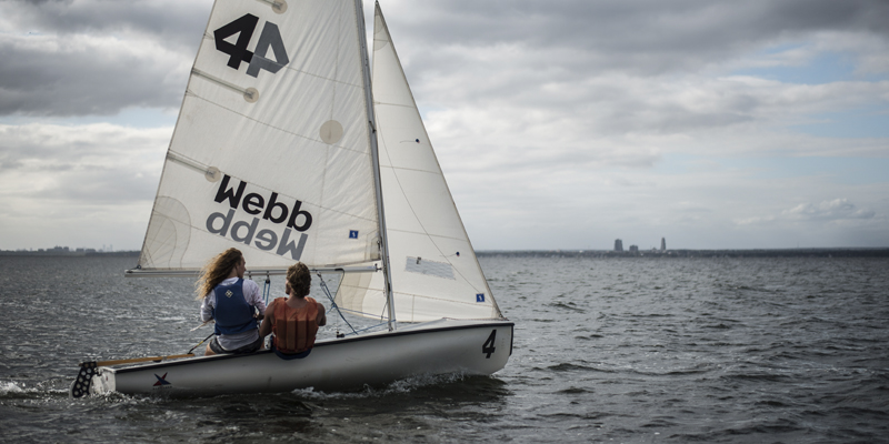 Webb Institute students sailing on the Long Island Sound