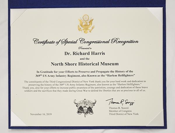 Dr Richard Harris Congressional Recognition