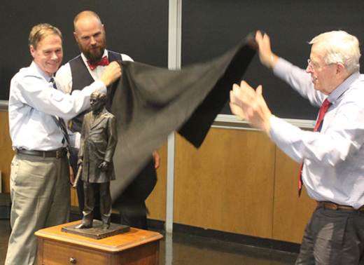 Spencer Schubert unveiling William Webb statue