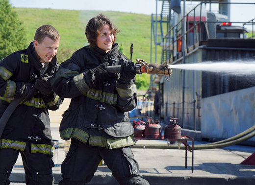 Students during Firefighting class