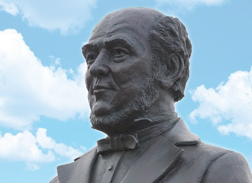 William H Webb statue at Webb Institute