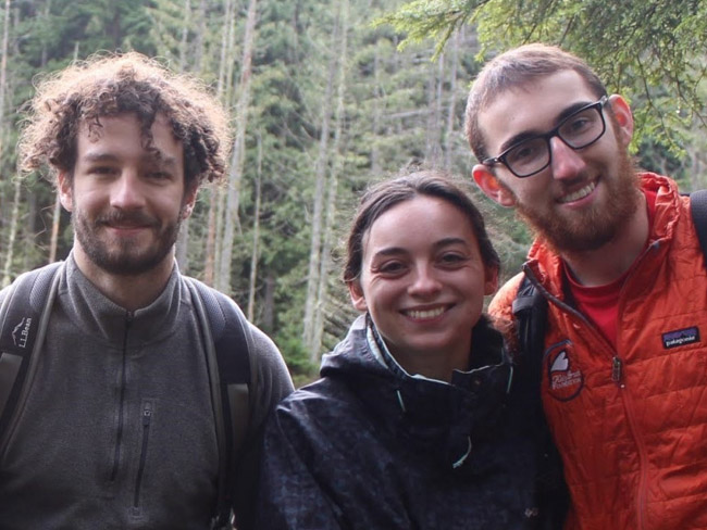 Three Webb students during Winter Work term in Washington state.