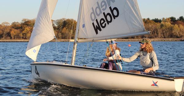 Sailboat at Webb Institute