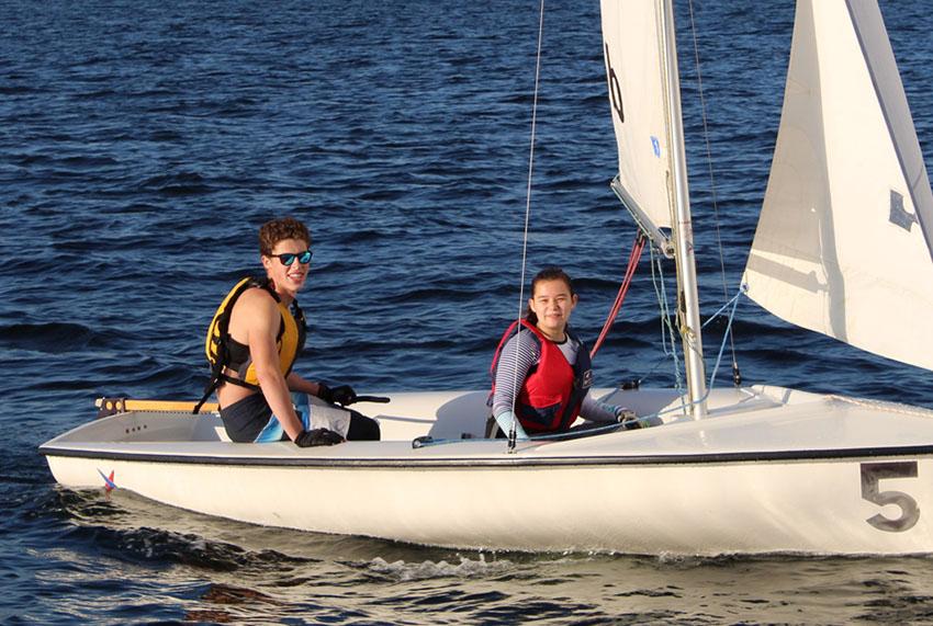 Sailing at Webb Institute
