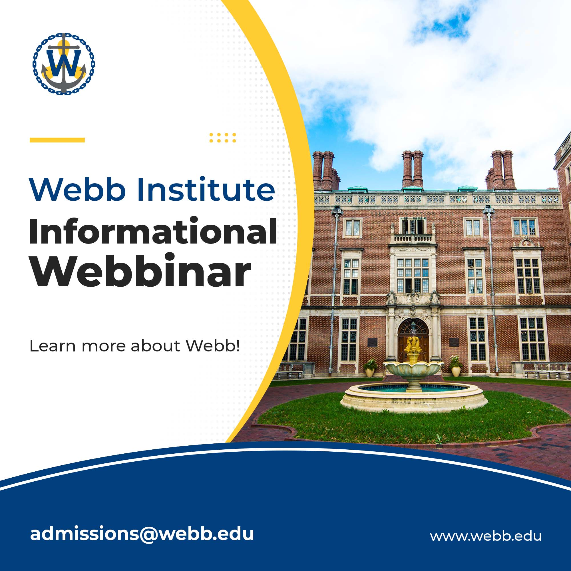 Informational WEBBinar at Webb Institute